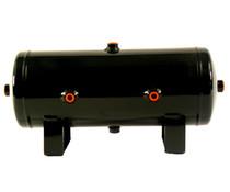 """Air lift 2 gallon réservoir d/'air 6/"""" x 17/"""" 4x 1//4/"""" /& 2x 3//8/"""" ports air suspension tank"""