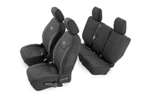 Jeep Neoprene Seat Covers Set | Black (11-12 Wrangler JK Unlimited)