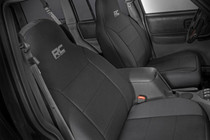 Jeep Neoprene Seat Covers Set | Black (84-01 XJ)  - front seat