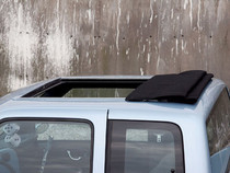 "35"" x 45"" Two Fold Sliding Rag Top - displayed open on a vehicle"
