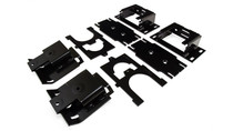 "2011-2019 Dodge Ram 1500 Ultimate Plus Rear Helper Bag Kit (8 1/8"" between frame & strike plate) - mounting brackets"