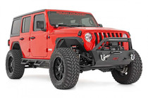 4in Jeep Long Arm Suspension Lift Kit (18-20 Wrangler JL | 4-Door) side view of vehicle