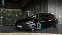 2015-2020 Mercedes (E-Class/C-Class/GLC-Class) Air Lift Kit with Manual Air Management w/No Shocks- vehicle side view