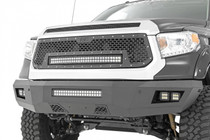 Toyota Mesh Grille w/ 30IN Dual Row Black Series LED (14-17 Tundra) displayed on a vehicle