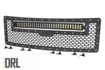 Ford Mesh Grille w/ 30IN Dual Row Black Series LED (09-14 F-150) Black Series w/ Amber DRL