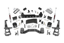 4in Ford Suspension Lift Kit (15-19 F-150 4WD) - Strut spacers w/ N3 shocks