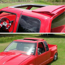 "40"" X 35"" Two Fold Sliding Rag Top - displayed on a vehicle"