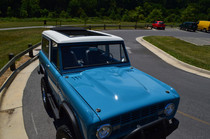 "40"" X 70"" Folding Sliding Rag Top ""1966-1977 Ford Bronco"" - displayed on a vehicle"