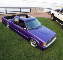"40"" X 40"" Folding Sliding Rag Top ""1986-1993 Mazda B-Series Ext Cab"" - displayed on a vehicle"