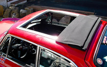 "35"" x 35"" Folding Sliding Rag Top ""1973-1976 MGB GT"" - displayed on a vehicle"