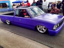 "40"" x 35"" Folding Sliding Rag Top ""1980-1986 Nissan/Datsun 720"" - displayed on a vehicle"
