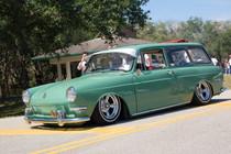 "35"" X 65"" Folding Sliding Rag Top ""VW Squareback"" - displayed on a vehicle"