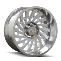 Cali Offroad Switchback 9108 Polished 20x12 5x5.50 -51mm 87.1mm - front view