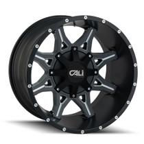 Cali Offroad Obnoxious 9107 Satin Black/Milled Spokes 20x10 5x5.00/5x5.50 -19mm 87mm- front view