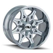 Cali Offroad Obnoxious 9107 Chrome 24x12 8x6.50/8x170 -44mm 130.8mm - front view