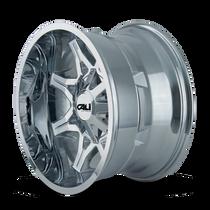 Cali Offroad Obnoxious 9107 Chrome 22x12 6x135/6x5.50 -44mm 106mm - side view