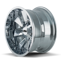 Cali Offroad Distorted 9106 Chrome 20x10 8x6.50/8x170-19mm 130.8mm - side view