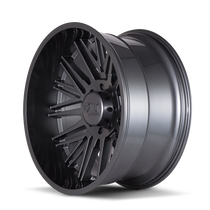 Cali Offroad Rawkon Graphite 20x12 8x180 -51mm 124.1mm - side view