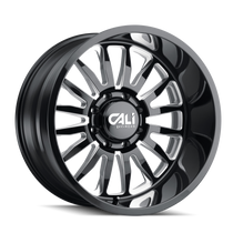 Cali Offroad Summit Gloss Black/Milled Spokes 20x9 8x6.50 0mm 125.2mm