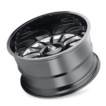 Cali Offroad Summit Gloss Black/Milled Spokes 20x9 8x6.50 0mm 125.2mm - tilted view