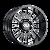 Cali Offroad Summit Gloss Black/Milled Spokes 24x12 8x180 -76mm 124.1mm