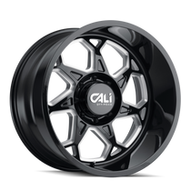 Cali Offroad Sevenfold Gloss Black/Milled Spokes 20x10 5x5.00 -25mm 78.1mm