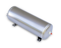 "Air Tank- 2 Gallon Aluminum w/2- 1/4"" Ports and 1- 1/8"" Port"
