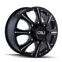 Cali Off-Road Brutal Front Black/Milled Spokes 22x8.25 8x6.50 127mm 121.3mm