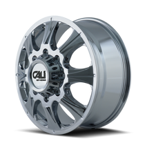Cali Off-Road Brutal Front Chrome 22x8.25 8x210 127mm 154.2mm - side view