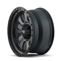 Dirty Life Ironman Matte Black w/ Matte Black Lip 17x8.5 6x135 6mm 87.1mm  - side view