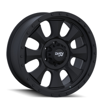 Dirty Life Ironman Matte Black w/ Matte Black Lip 17x8.5 5x4.50 -6mm 72.6mm
