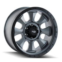 Dirty Life Ironman Matte Gunmetal w/ Matte Black Lip 18x9 8x165.1 0mm 130.8mm
