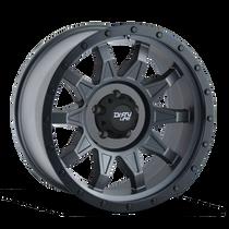 Dirty Life Roadkill Matte Gunmetal w/ Matte Black Lip 18x9 5x150 -12mm 110mm