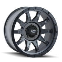 Dirty Life Roadkill Matte Gunmetal w/ Matte Black Lip 18x9 8x165.1 -12mm 130.8mm