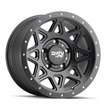 Dirty Life Theory Matte Black w/ Matte Black Lip 17x9 5x127 -12mm 78.1mm