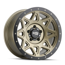 Dirty Life Theory Matte Gold w/ Matte Black Lip 17x9 5x127 -12mm 78.1mm