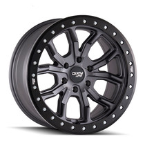 Dirty Life DT1 Satin Graphite w/ Simulated Beadlock Ring 17x9 6x139.7 -12mm 106mm