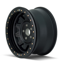 Dirty Life Roadkill Matte Black Beadlock 17x9 6x139.7 -14mm 108mm - side view