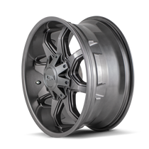ION 181 Graphite 17x9 8x165.1/8x170 18mm 130.8mm - side view