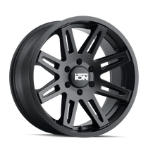 ION 142 Matte Black 17x9 5x127 -12mm 78.1mm