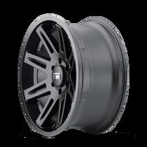ION 142 Matte Black 17x9 6x139.7 -12mm 106mm - side wheel view