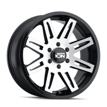 ION 142 Black w/ Machined Face 20x9 8x165.1 0mm 130.8mm