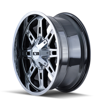 ION 184 PVD2 Chrome 17x9 8x165.1/8x170 18mm 130.8mm - wheel side view