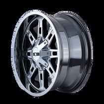 ION 184 PVD2 Chrome 20x9 8x165.1/8x170 18mm 130.8mm - wheel side view