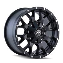Mayhem 8015 Warrior Matte Black 20x9 6x120/6x139.7 18mm 78.1mm