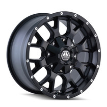 Mayhem 8015 Warrior Matte Black 17x9 8x180 18mm 124.1mm