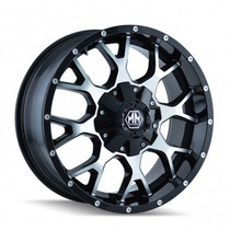 Mayhem 8015 Warrior Black/Machined 18x9 8x180 -12mm 124.1mm