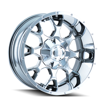 Mayhem 8015 Warrior Chrome 20x9 8x165.1/8x170 18mm 130.8mm