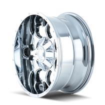 Mayhem 8015 Warrior Chrome 20x10 5x127/5x139.7 -25mm 87mm- wheel side view