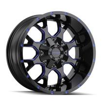 Mayhem Warrior Black w/ Prism Blue 17x9 8x165.1/8x170-12mm 130.8mm